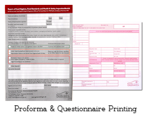 Image: Proforma &amp Questionnaire Stationery